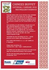 Uitnodiging Chinees buffet Ronic Poley MNC Nieuwjaarstoernooi